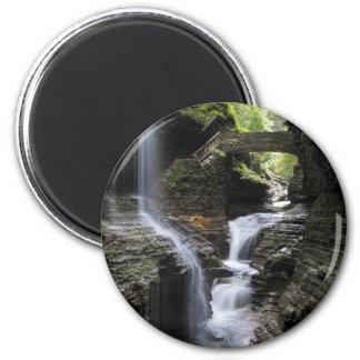 Waterfalls at Watkins Glen, NY 2 Inch Round Magnet