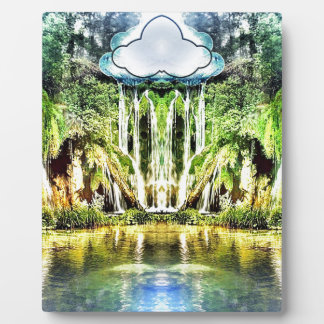 Waterfalls from the cloud plaque