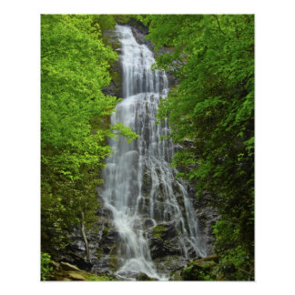 Waterfalls Great Smokey Mountain National Park Poster