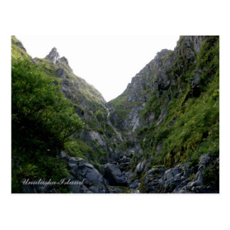 Waterfalls in Captain's Bay Area, Unalaska Island Postcard