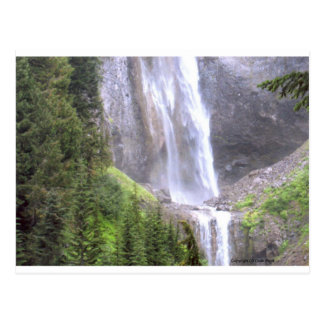 Waterfalls in Mt Rainier National Park Paradise Postcard