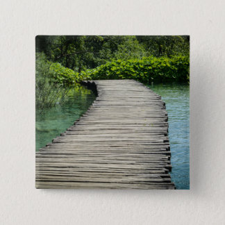 Waterfalls in Plitvice National Park in Croatia 2 Inch Square Button