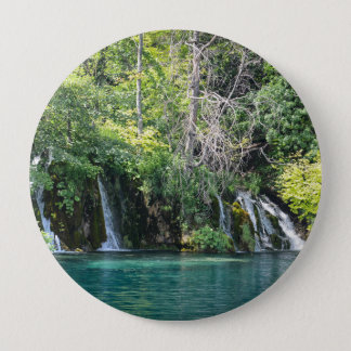 Waterfalls in Plitvice National Park in Croatia 4 Inch Round Button