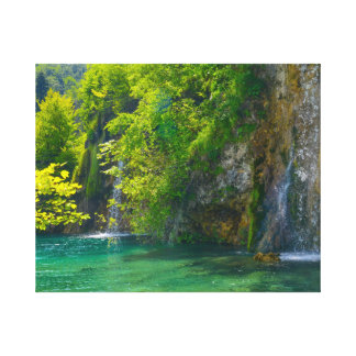 Waterfalls in Plitvice National Park in Croatia Canvas Print