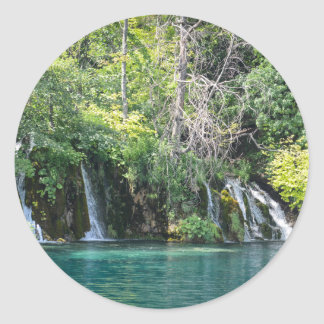 Waterfalls in Plitvice National Park in Croatia Classic Round Sticker