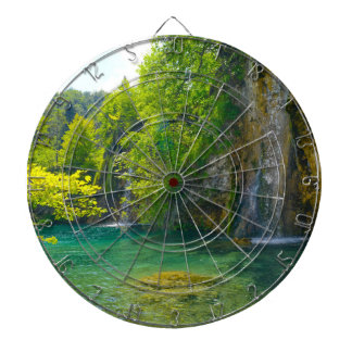 Waterfalls in Plitvice National Park in Croatia Dartboard
