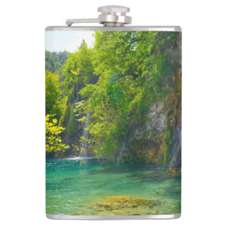 Waterfalls in Plitvice National Park in Croatia Flasks