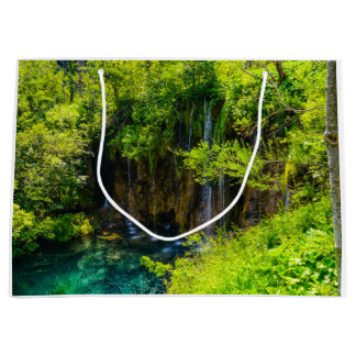 Waterfalls in Plitvice National Park in Croatia Large Gift Bag
