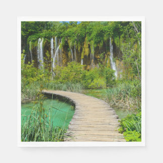 Waterfalls in Plitvice National Park in Croatia Paper Napkins