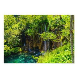 Waterfalls in Plitvice National Park in Croatia Photo Print