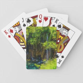 Waterfalls in Plitvice National Park in Croatia Poker Deck