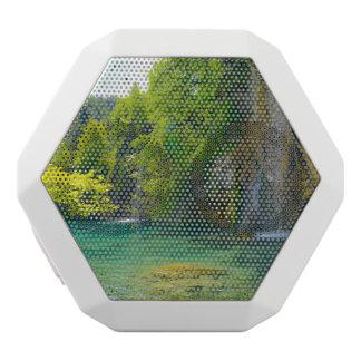 Waterfalls in Plitvice National Park in Croatia White Bluetooth Speaker