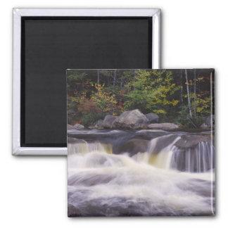 Waterfalls, Kancamagus Highway, White Square Magnet