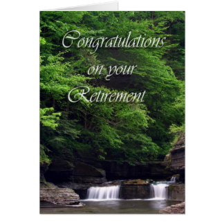 Waterfalls Retirement Card