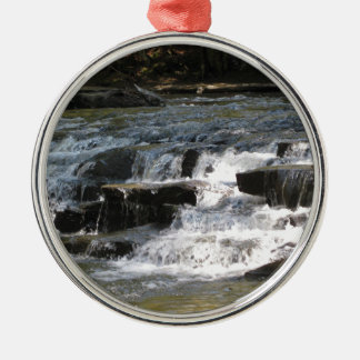 Waterfalls Silver-Colored Round Ornament