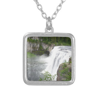 Waterfalls Silver Plated Necklace