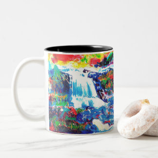 Waterfalls. Two-Tone Coffee Mug
