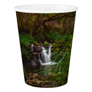 Waterfalls Water Nature Scenery Paper Cups