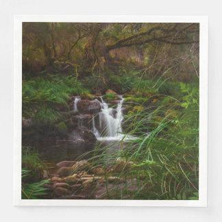 Waterfalls Water Nature Scenery Paper Napkins