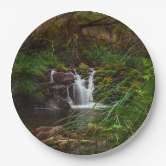 Waterfalls Water Nature Scenery Paper Plates