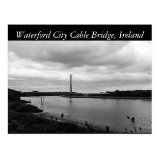 Waterford Cable Bridge. Waterford, Ireland Postcard