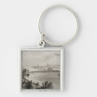 Waterford, Ireland, from 'Scenery and Silver-Colored Square Keychain