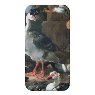 Waterfowl in a classical landscape, 17th century cover for iPhone 4