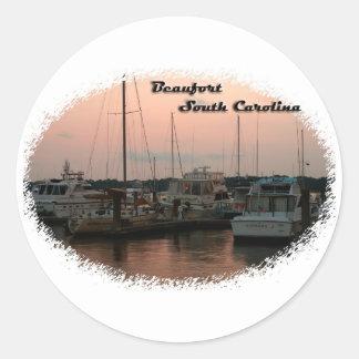 Waterfront, Beaufort, SC Round Sticker