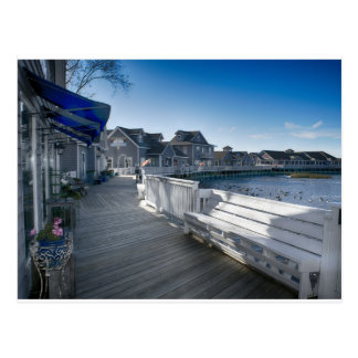 Waterfront Boardwalk Village - Outer Banks, NC Postcard