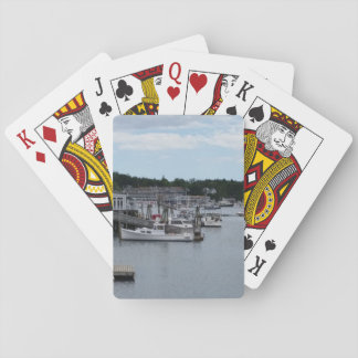 """""""Waterfront"""" Boothbay Harbour Classic Playing Playing Cards"""