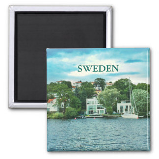 Waterfront houses in Sweden Magnet