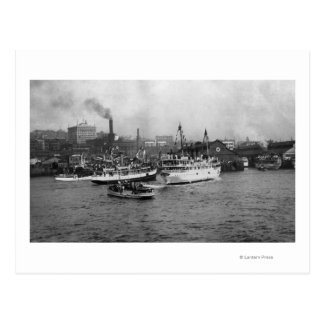Waterfront Scene with Ships of Seattle Post Cards