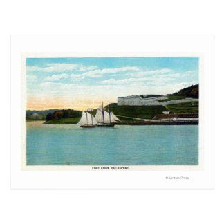 Waterfront View of Fort Knox Postcard
