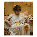 Waterhouse Cleopatra Poster