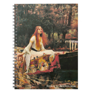 Waterhouse Lady of Shalott Personalized Spiral Notebook