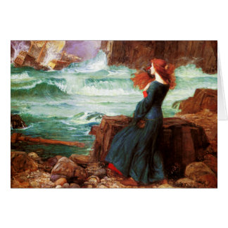 Waterhouse Miranda The Tempest Note Card