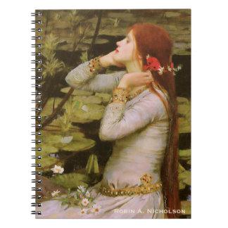 Waterhouse Ophelia Personalized Spiral Notebook