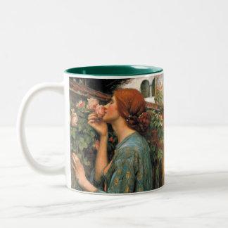 Waterhouse: Smell of Roses Two-Tone Coffee Mug