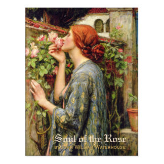 Waterhouse Soul of the Rose CC0738 Pre-Raphaelite Postcard