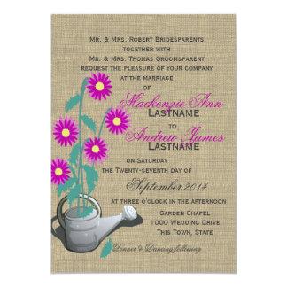 Watering Can Garden Wedding Card