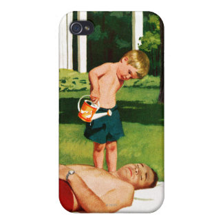 Watering Father iPhone 4 Cover