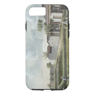 Watering tea plants (w/c on paper) iPhone 7 case