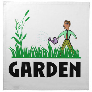 watering the garden napkin