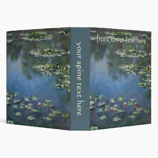 Waterlilies by Claude Monet, Vintage Flowers 3 Ring Binders