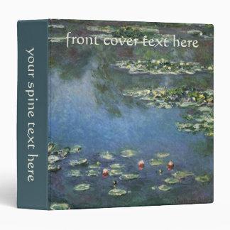 Waterlilies by Claude Monet, Vintage Flowers 3 Ring Binders