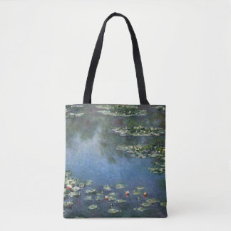 Waterlilies by Claude Monet, Vintage Flowers Tote Bag