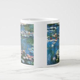 Waterlilies by Claude Monet, Vintage Impressionism Large Coffee Mug