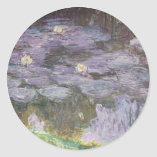 Waterlilies Classic Round Sticker