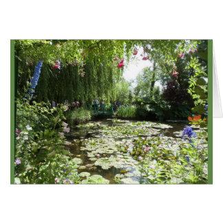Waterlilies of Monet's Garden, France Card