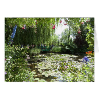 Waterlilies of Monet's Garden, France Card